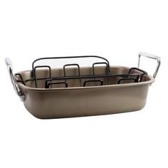 Gibson Home Gibson Home Harvest Nonstick Roaster with Rack at Lowe's. Gibson Home's Harvest Non-Stick Turkey Roaster includes a X Turkey Roaster with metal rack. This large roaster is perfect for making Turkey In Roaster, Low Fat Cooking, Perfect Turkey, Gibson Home, Cook N, Metal Rack, Pan Set, Roasting Pan, Holiday Dinner