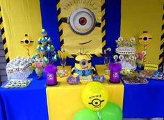 Minion Party Ideas for Kids Minion Baby, Minion Theme, Minion Birthday, Birthday Boys, 6th Birthday Parties, Birthday Ideas, Birthday Cakes, Despicable Me Party, Baby Shower Deco