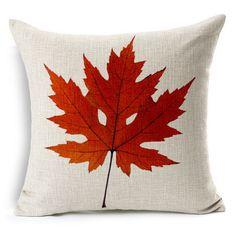Red Yellow Maple Leaf Floral Decorative Pillows Throw Cover Pillowcase Tropical Plant Chair Sofa Throw Cushion Cover Design b176 #Affiliate