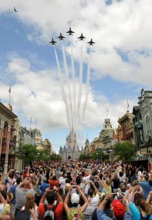 LAst year at the MK ...the backstory is on my blog...http://dizneluversworld.com/2010/10/22/fighters-jets-over-the-magic-kingdom-disney-world-photography/
