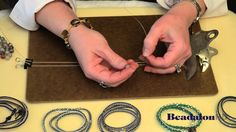 Video: Wrap Bracelet using Beadalon Wire skip the hemp and leather. Make a shambala - type bracelet on beading wire instead. use .024 for the base and .012 for wrapping #Beading #Jewelry #Tutorials
