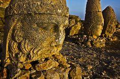 Ancient ruins at Mt Nemrut in Turkey
