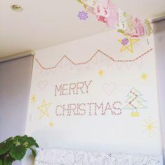 On Walls/マスキングテープ/クリスマス/ウォールデコのインテリア実例 - 2015-12-19 00:23:56
