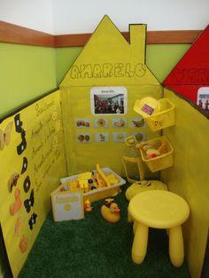 """Projeto:"""" O Mundo das cores""""- o amarelo."""