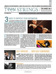 Teen Strings Tip Sheet #1: Improve Your Intonation – All Things Strings