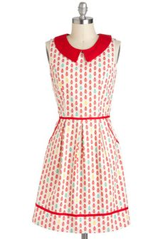 All Eyes on Unique Dress in Fire Hydrant, #ModCloth
