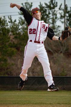 Facebook: Ginger Wesson Photography #baseball #photography #senior #portrait #actionshot #underarmour