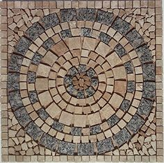 Tumbled Granite & Travertine Kitchen or Bathroom Floor or Wall Art Medallion / Mosaic by: Stone Deals Stone Deals http://www.amazon.com/dp/B00XRWR5X8/ref=cm_sw_r_pi_dp_N3zUvb0NS5PT9