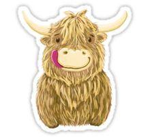Cartoon Scottish Highland Cow Sticker