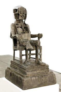 Huma Bhabha, The Orientalist, 2007, bronze.