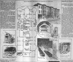H.H Holmes' houseplan