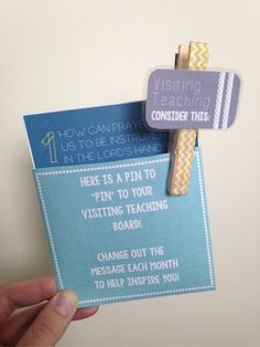 Visiting Teaching Message Clothespin