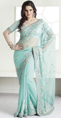 t is color this season and bright shaded suits are really something that is totally in vogue.   This light blue net saree is nicely designed with embroidered patch work is done with resham and sequins work.   Saree gives you a singular and dissimilar look.   Matching blouse is available.   Slight color variations are possible due to differing screen and photograph resolution. Sunny Leone Photographs SUNNY LEONE PHOTOGRAPHS | IN.PINTEREST.COM WALLPAPER EDUCRATSWEB