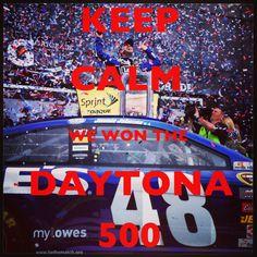 Keep calm - we won the #Daytona500