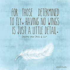 Determined to fly