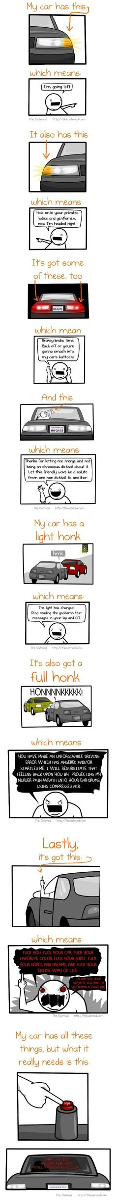 This is definitely how I act when I drive. Don't act like it isn't you.