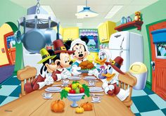 Mickey Mouse, Minnie, Donald, Goofy- Thanksgiving- Lenticular Poster- for sale online Minnie Mouse Pictures, Disney Pictures, Moving Pictures, Mickey Mouse And Friends, Disney Mickey Mouse, Disney Fun, Disney Magic, Mickey Mouse Mascot Costume, Disney Thanksgiving