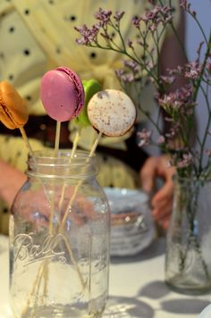 Macaroons, great hens party idea.