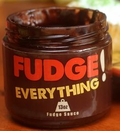 Dark chocolate fudge sauce from @fudgeeverything, a vendor at the 2014 Boston Christmas Festival.