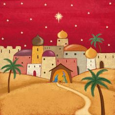 Leading Illustration & Publishing Agency based in London, New York & Marbella. Christmas Paper Crafts, Vintage Christmas Cards, Christmas Art, Holiday Crafts, Christmas Holidays, Christmas Drawing, Christmas Paintings, Christ The Good Shepherd, Christmas Games For Family