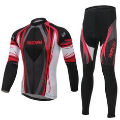Red God Created men fashion thermal fleece cycling jersey pants & bibshort free shipping XINTOWN