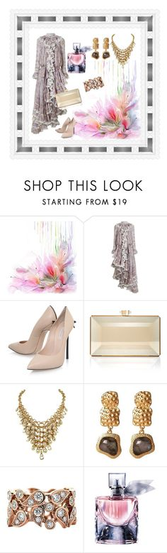 """Waterfall"" by jeanstapley ❤ liked on Polyvore featuring Zimmermann, Casadei, Judith Leiber, Lings Jewellery and Lancôme"