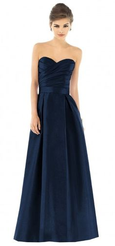 mmmmm i love navy! again... need some sparkle! i dont think bridesmaids would be overly disgusted by this dress would they?