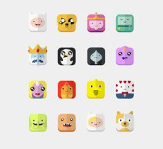 Adventure Time - Icons by Toan To, via Behance