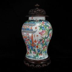 ANTIQUE CHINESE JIAQING DAOGUANG 100 BOYS CHINESE NEW YEAR FAMILLE ROSE VASE, 19C, 34.5cm, $6199, ascot court@ebay