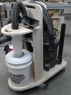 DIY CNC Project – Dust Deputy Cyclone Separator Cart--More things to research on how I want to build a dust collection system