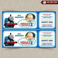 Thomas The Train Customizable Printable Party Invitation With PHOTO 1000 Via Etsy