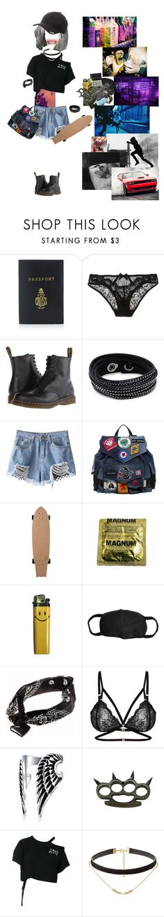 """Clubbin withda Gang"" by carrie-lynn ❤ liked on Polyvore featuring Mark Cross, L'Agent By Agent Provocateur, Dr. Martens, Swarovski, Dsquared2, Apex, Bling Jewelry, Ann Demeulemeester, Jules Smith and Charlotte Russe"