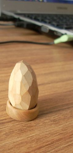 A gemstone can be made of wood? No. But it's cute. :)