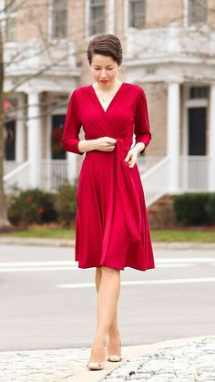 raspberry glow - the maggie from karina dresses - red reticule