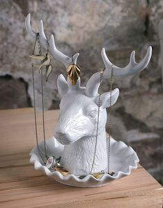 Deer jewelry holder- I actually found something like this at Target of all places..