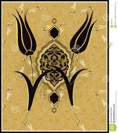 Traditional Ottoman Turkish Tulip Design