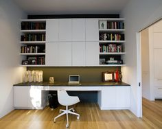 Built In Office Design.