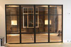 Painted black mat, metal doors with clear glass and hidden hinges. its simplicity perfectly fit to almost every interior. Realization by Zbigniew Bakanowicz Oslo - Norway Hidden Hinges, Metal Doors, Oslo, Clear Glass, Norway, Fit, Interior, Black, Home Decor
