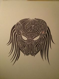 Pen and Ink Tribal Predator by YanchusArt on Etsy