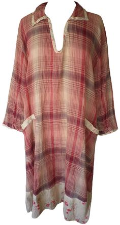 Magnolia Pearl: Apple plaid cotton Brigid Smock