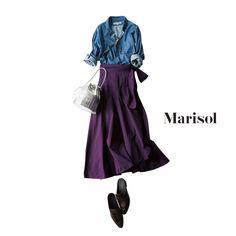 誕生日も仕事三昧。せめて服だけでも女っぷりスカートで気分をあげてMarisol ONLINE|女っぷり上々!40代をもっとキレイに。