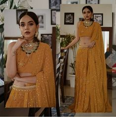 Komal pandey wore this beautiful outfit set a goal Source by jaspauldhanjal outfits indian Party Wear Indian Dresses, Indian Gowns Dresses, Wedding Dresses For Girls, Bridal Dresses, Indian Attire, Indian Wear, Indian Outfits, Designer Bridal Lehenga, Lehenga Designs