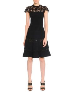 B2TDD Valentino Fit-and-Flare Dress with Lace