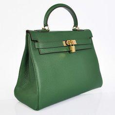 Hermes Kelly | Hermes Kelly 32CM Bags Togo Leather Dark Green Golden - $276.00 ...