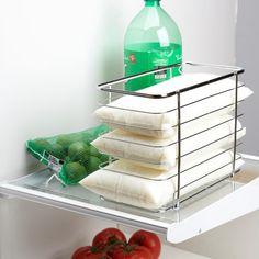 Ksp Linear Milk Bag Organizer 25.5 X 12 X 18 Cm Chromewire   Kitchen Stuff Plus #KSPPin2Win