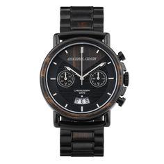 Chrono Ebony / Black Steel - Original Grain Watches