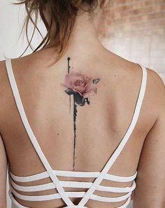 watercolor rose tattoo #TattooIdeasBack