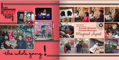 April layout #3 for Shutterfly Project Life book 2012.