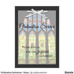 How to write an ordination invitation church ideas and craft ordination invitation stain glass stopboris Choice Image