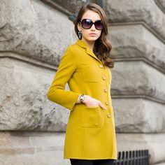 2015 spring new high-end handmade wool fleece coat female woolen jacket USD$370.00